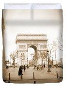 A Walk Through Paris 3 Duvet Cover