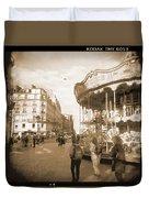 A Walk Through Paris 4 Duvet Cover