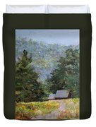 A Walk To Great Meadow Duvet Cover