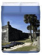 A Wall Of The Castle At San Marcos Duvet Cover