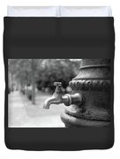 A Water Tap In The Park Duvet Cover