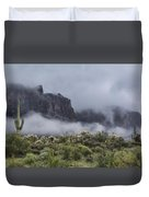 A Wave Of Fog On The Superstitions  Duvet Cover