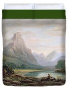 A Welsh Valley Duvet Cover by John Varley