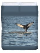 A Whale Of A Tail Bar Harbor Duvet Cover