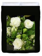A White Roses Bouquet For You Duvet Cover