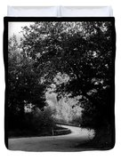 A Winding Road Bw Duvet Cover