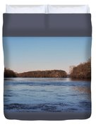 A Windswept River In March Duvet Cover