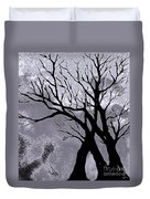 A Winter Night Silhouette Duvet Cover