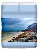A Winter's Beach Duvet Cover