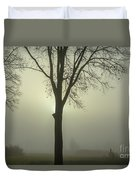 A Winter's Day In The Fog Duvet Cover