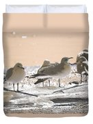 A Winter's Day Passing Bye Duvet Cover