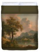A Wooded Hilly Landscape Duvet Cover