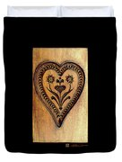 A Wooden Heart Duvet Cover