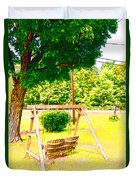 A Wooden Swing Under The Tree Duvet Cover