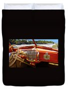 A Woodie At The Beach Duvet Cover