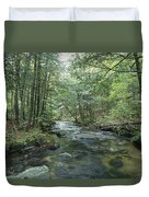 A Woodland View With A Rushing Brook Duvet Cover