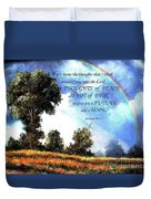 A Word Of Hope Duvet Cover