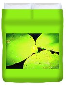 A Yellow Bud Of Waterlily Duvet Cover