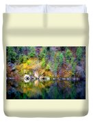 A Yellow Lake Calm Duvet Cover