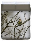 A Yellow-rumped Warbler In The Evening Duvet Cover