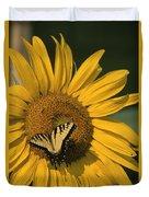 A Yellow Swallowtail Duvet Cover