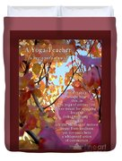 A Yoga Teacher Duvet Cover by Felipe Adan Lerma