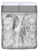 A Young Girl Of Cologne And Dbcrer Wife 1520 Duvet Cover