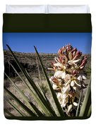 A Yucca Plant Blossoms In The Desert Duvet Cover