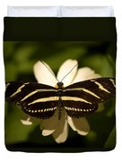 A Zebra-winged Butterfly At The Lincoln Duvet Cover