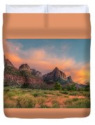 A Zion Sunset Duvet Cover