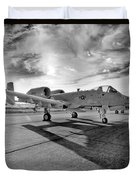 A10 Thunderbolt Duvet Cover by Greg Fortier