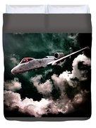 A10 Thunderbolt In Flight Duvet Cover