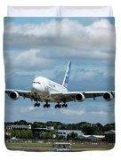A380 Airbus Plane Landing Duvet Cover