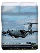 A400m Plane Lands Duvet Cover
