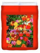 Aa One Day At A Time Duvet Cover