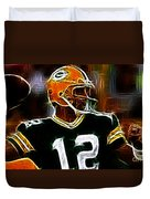 Aaron Rodgers - Green Bay Packers Duvet Cover