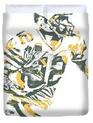 Aaron Rodgers Green Bay Packers Pixel Art 22 Duvet Cover