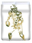 Aaron Rodgers Green Bay Packers Water Color Art 1 Duvet Cover