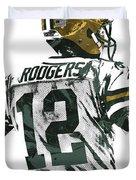 Aaron Rodgers Green Bay Packers Pixel Art 5 Duvet Cover