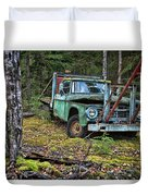 Abandoned Alaskan Logging Truck Duvet Cover