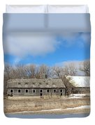 Abandoned Barn And Shed Duvet Cover