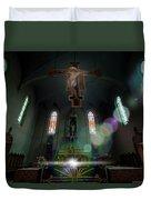 Abandoned Blue Church - Chiesa Blu Abbandonata Duvet Cover