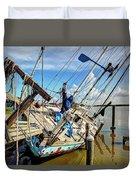 Abandoned Boat - Houston, Tx Duvet Cover