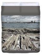 Abandoned Boat Slip Duvet Cover