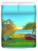 Abandoned Boats On Choctawhatchee Bay Duvet Cover
