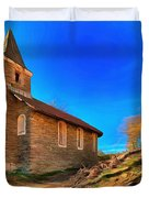 Abandoned Church Of Abandoned Village Paint - Chiesa Abbandonata Di Paesino Abbandonata Paint Duvet Cover