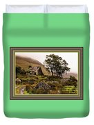 Abandoned Cottage - Scotland H A With Decorative Ornate Printed Frame Duvet Cover