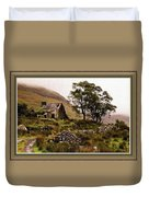 Abandoned Cottage - Scotland H B With Decorative Ornate Printed Frame Duvet Cover