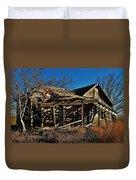 Abandoned Farmhouse In Kansas Duvet Cover