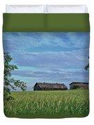 Abandoned In Grass Duvet Cover